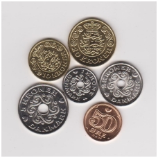 DENMARK 2013 - 2015 HIGH GRADE 6 COINS SET