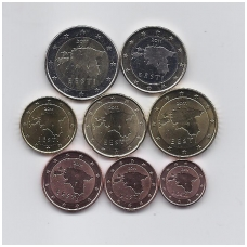 ESTONIA 8 COINS FULL EURO SET 2011