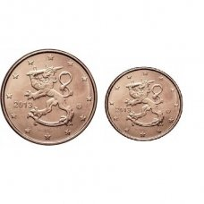 FINLAND 1 & 2 EURO CENTS 2013
