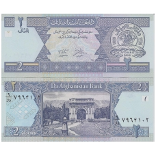 AFGANISTANAS 2 AFGHANI 2002 P # 65 UNC
