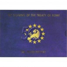 AIRIJA 2007 m. OFICIALUS EURO MONETŲ RINKINYS SU PROGINE 2 EURŲ MONETA
