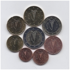 AIRIJA 2012 m. euro monetų komplektas ( 5 centai su juodais taškeliais )
