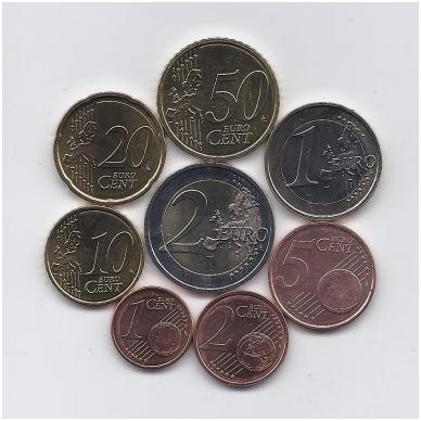 AIRIJA 2012 m. euro monetų komplektas ( 5 centai su juodais taškeliais ) 2