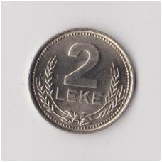 ALBANIJA 2 LEKE 1989 KM # 73 AU
