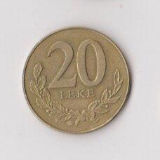 ALBANIJA 20 LEKE 1996 KM # 78 VF