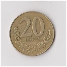 ALBANIJA 20 LEKE 2000 KM # 78 VF
