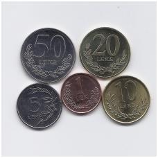 ALBANIJA 2000 - 2016 m. 5 monetų rinkinys