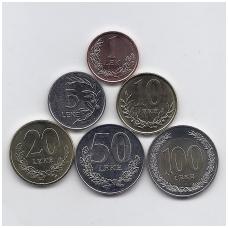 ALBANIJA 2000 - 2018 m. 6 monetų rinkinys