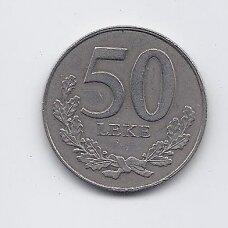 ALBANIJA 50 LEKE 2000 KM # 79 VF