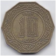 ALŽYRAS 10 DINARS 1981 KM # 110 VF