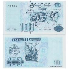 ALŽYRAS 100 DINARS 1992 P # 137 AU