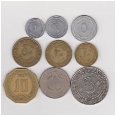 Alžyras 1964 - 1979 m. 9 monetų rinkinukas