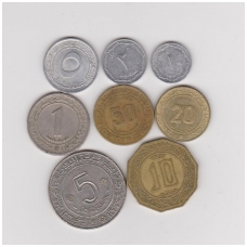 Alžyras 1964 - 1981 m. 8 monetų rinkinukas