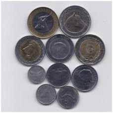 ALŽYRAS 1992 - 2018 m. 10 monetų rinkinys AU/UNC