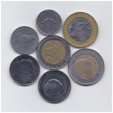 ALŽYRAS 1992 - 2018 m. 7 monetų rinkinys VF/AU