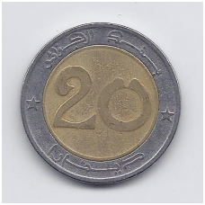 ALŽYRAS 20 DINARS 1992 KM # 125 VF