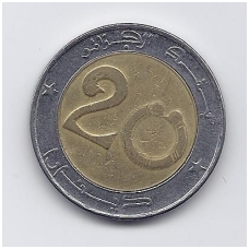 ALŽYRAS 20 DINARS 1993 KM # 125 VF
