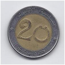 ALŽYRAS 20 DINARS 1999 KM # 125 VF
