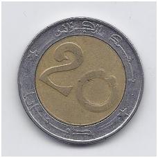 ALŽYRAS 20 DINARS 2000 KM # 125 VF