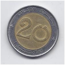 ALŽYRAS 20 DINARS 2004 KM # 125 VF