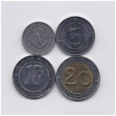 ALŽYRAS 2007 - 2018 m. 4 monetų rinkinys