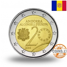 ANDORRA 2 EURO 2014 20 YEARS EUROPE COUNCIL