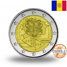 ANDORRA 2 EURO 25th ANNIVERSARY OF THE SIGNATURE OF THE CUSTOMS AGREEMENT WITH THE EU