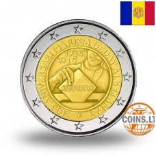 ANDORRA 2 EURO 2015  30th ANNIVERSARY OF THE COMING OF AGE AND POLITICAL RIGHTS TO THE MEN AND WOMEN TURNING 18 YEARS OLD