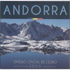 ANDORA 2020 m. oficialus euro monetų rinkinys