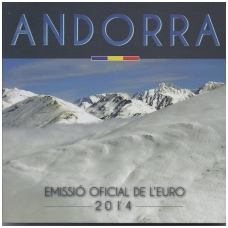 ANDORA 2014 m. OFICIALUS EURO MONETŲ RINKINYS