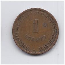 ANGOLA 1 ESCUDO 1956 KM # 76 VF