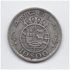ANGOLA 10 ESCUDOS 1952 KM # 73 VF
