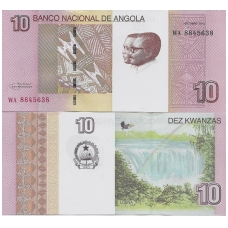 ANGOLA 10 KWANZAS 2012 P # new aUNC