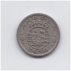 ANGOLA 2.5 ESCUDOS 1953 KM # 77 VF