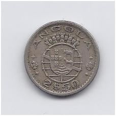 ANGOLA 2.5 ESCUDOS 1968 KM # 77 VF