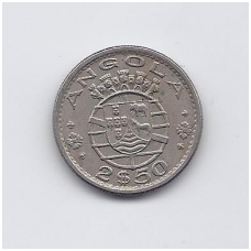 ANGOLA 2.5 ESCUDOS 1969 KM # 77 VF