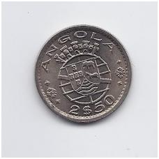 ANGOLA 2.5 ESCUDOS 1974 KM # 77 UNC