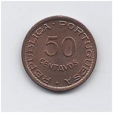 ANGOLA 50 CENTAVOS 1957 KM # 75 AU