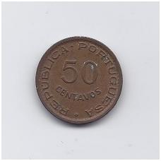 ANGOLA 50 CENTAVOS 1957 KM # 75 VF