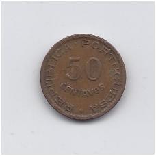 ANGOLA 50 CENTAVOS 1961 KM # 75 VF