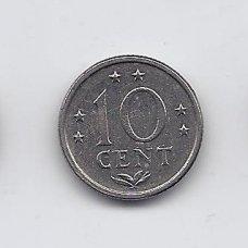ANTILAI ( NYDERLANDŲ ) 10 CENTS 1971 KM # 10 XF