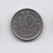 ANTILAI ( NYDERLANDŲ ) 10 CENTS 1975 KM # 10 XF
