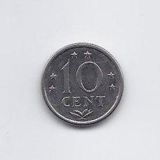 ANTILAI ( NYDERLANDŲ ) 10 CENTS 1979 KM # 10 XF
