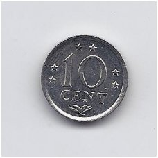 ANTILAI ( NYDERLANDŲ ) 10 CENTS 1982 KM # 10 XF
