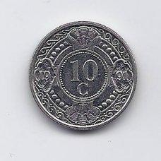ANTILAI ( NYDERLANDŲ ) 10 CENTS 1991 KM # 34 VF