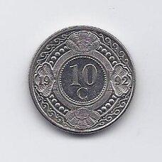 ANTILAI ( NYDERLANDŲ ) 10 CENTS 1992 KM # 34 XF
