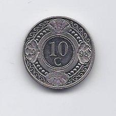 ANTILAI ( NYDERLANDŲ ) 10 CENTS 1998 KM # 34 VF