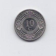 ANTILAI ( NYDERLANDŲ ) 10 CENTS 1999 KM # 34 VF