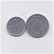 ANTILAI (NYDERLANDŲ) 1979 m. 2 monetų rinkinukas