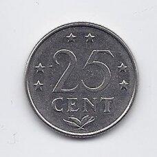 NYDERLANDŲ ANTILAI 25 CENTS 1975 KM # 11 VF